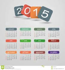 Calendar Format 2015 Calendar 2015 Vector Illustration Design Stock Vector