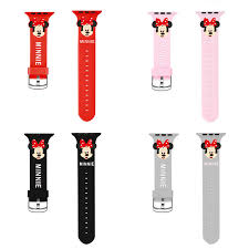 Apple Watch 4 Band Compatibility Chart Details About Cute Minnie Mouse Silicone Sport Band For Apple Watch Series 4 3 2 1 Wrist Strap