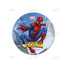 Edible Cake Topper Spider Man Diam16cm Décorelief
