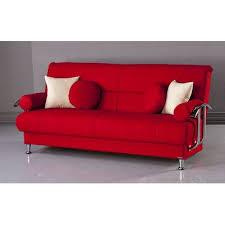 sofas allmodern red sofa red