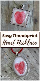 red thumbprint heart square and oval necklace pendants
