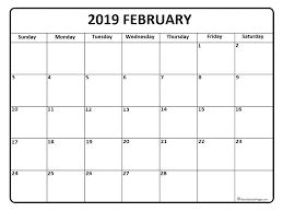 2019 Calendar Printable Template February 2019 Calendar 56 Templates Of 2019 Printable Calendars