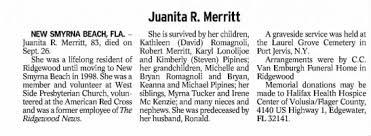 Juanita Tomys Merritt Obituary - Newspapers.com