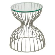 round glass top dining table with chrom metal base