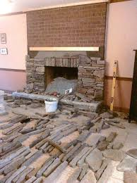 refacing a brick fireplace with stone veneer best choice of stone veneer fireplace surround over brick