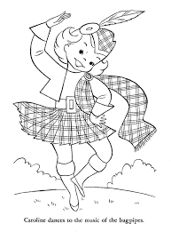 Print Scotland And Robbie Burns Coloring