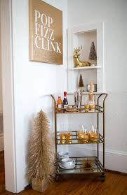 holiday bar cart, how to decorate your home for the holidays, haute off the