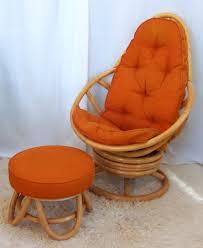 wonderful retro rattan swivel rocker with ottoman omero home rattan swivel rocker chair cushions
