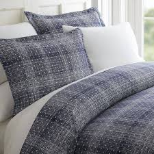 becky cameron polkadot patterned duvet cover set king navy