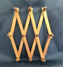 Expandable Wooden Coat Rack Vintage Wooden Accordion Wall Peg Rack Wooden Coat Hooks Small 39