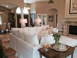 cozy living rooms. Slipcovered Sectional In Cozy Living Room Traditional-living-room Rooms H