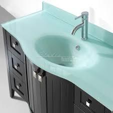 green glass top bridgeport 48 inch contemporary bathroom vanity glass top