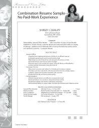 Resume Job History Resume