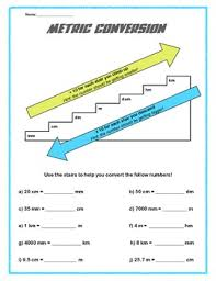 Stair Step Conversion Chart Metric Conversion Chart Worksheet Metric Conversion