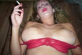 Big tits laid flat