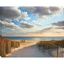shop 30 x 38 sunset beach canvas wall art at lowes com on beach scene canvas wall art with beach wall art canvas yasaman ramezani