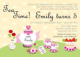 Kids Tea Party Invitation Wording Lovely Tea Party Invitation Wording In Invitations Templates Ideas