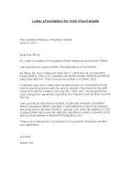 Us Embassy Invitation Letter Sample Visa Application Cover Letter