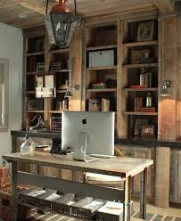 rustic home office ideas. Decor De Provence - Dens/libraries/offices Carriage House Lantern, Lantern Pendant, Hardwood Floors, Rustic Home Office, Built In C. Office Ideas U