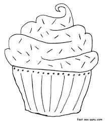 Small Picture Birthday Cake Coloring Pages Printable fablesfromthefriendscom
