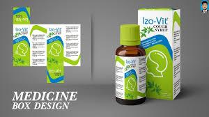 Medicine Syrup Box Design Coreldraw Tutorial How To Make Medicine Box Packaging