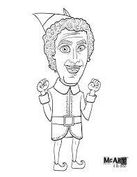 Mcart La Carte Buddy The Elf Coloring Page Coloring Pages