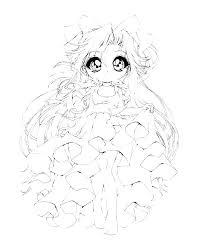 Kawaii Disney Princess Coloring Pages