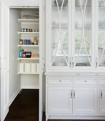 Glass Front China cabinet Next to Walk In Pantry
