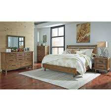 California King Bed with Sleigh Headboard