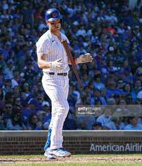Chicago Cubs tosses his bat after ...