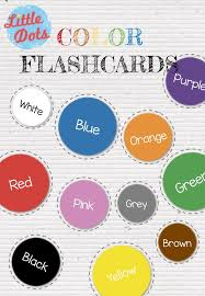 Free color flashcards for kindergarten & preschool! Free Color Flashcards Printable