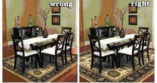 area rug under dining table size room rugs what should an be a