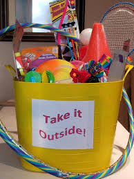 Raffle Prize Ideas For Kids Take It Outside Basket For Silent Auction Filled With Toys