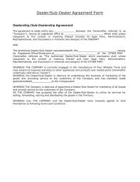 Legal Contracts Template Impressive 48 Dealership Agreement Templates PDF Word Sample Templates