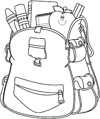 Small Picture Free Backpack Clipart Black and White Image 10186 Backpack