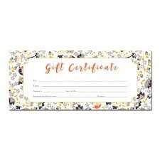 Floral Print Blank Gift Certificate Premade Gift Etsy