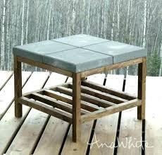concrete coffee table diy build own building your pete topped tab concrete coffee table diy outdoor cement side slab