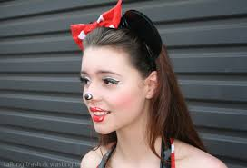 minnie mouse cartoon make up how to