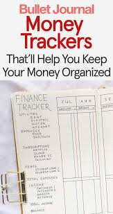 Keep Track Of Your Finances Bullet Journal Money Trackers That Will Help You Keep Your