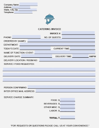 Catering Invoice Example Catering Receipt Sample Bill Format For And Wedding Service
