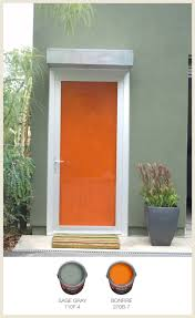 Orange front door Siding The Educatemcinfo Colorfully Behr Color Of The Month Fiery Orange