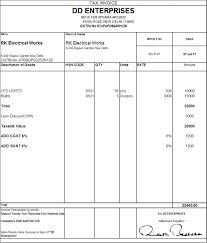 Tax Invoice Layout Download Excel Format of Tax Invoice in GST GST Goods and 1