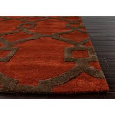 hand tufted wool area rug red