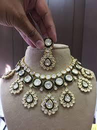 Gold Polki Necklace Designs Necklace Polki Set Kundan Meena Jadau Jewellery Indian Polki