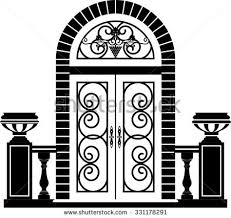 front door clipart black and white. Fantastic Front Door Clipart Black And White Arch Stock Images Royalty Free Vectors I