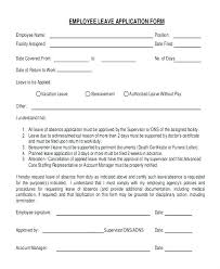 Application For Leave To Manager Request For Leave Sample New Customer Application Form Template