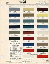 1969 Dodge Color Chart B7 Blue