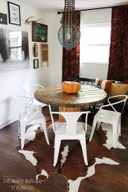 Our Rustic Modern Dining Room Thewhitebuffalostylingcocom - Rustic modern dining room chairs