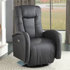 Oversized Power Recliner Chair Home Designs Genuine Leather Swivel