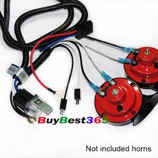 12v super tone horn wiring harness kit controller relay fuse grill discount horn wiring harness kit for grille grill mount compact super tone 12v relay fuse